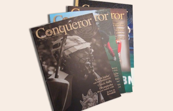 Conqueror magazine door marathon advertising agency